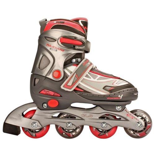 Nijdam Junior Inline Skates 30-33 Anthracite/Silver/Fuchsia 52SR Children