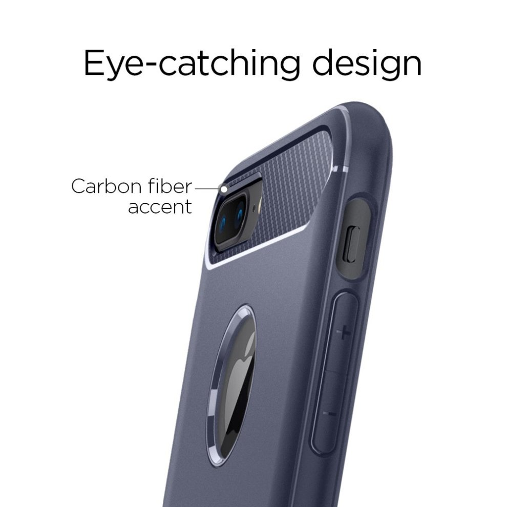 100% authentic 53e92 4b785 Spigen® iPhone 8 Plus Case, Spigen® iPhone 7 Plus Case [Rugged Armor]  Resilient [Midnight Blue] Ultimate protection from drops and impacts for...