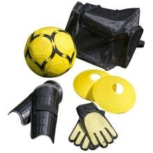 Kids Football Training Set Backpack with Ball, Gloves, Shin Pads and Practice Cones