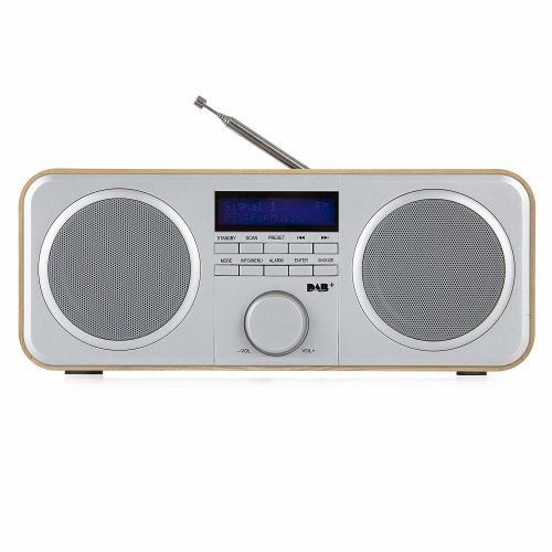 Akai A61037 DAB/DAB+/FM Digital Radio/ LCD display, Wood Effect Oak