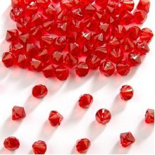 Table Diamonds Red 9mm - Decoration Wedding Confetti -  diamonds table 9mm decoration wedding red confetti