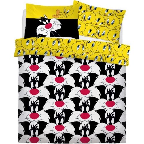 Looney Tunes Sylvester and Tweety Duvet Cover Set