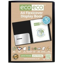 1 x A4 Flexicover 40pkt (80 Views) Presentation Display Book - Black