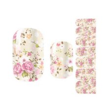 Creative Fashionable Green Nail Stickers Nail Decoration, Floral
