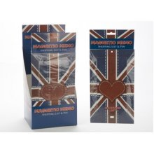 Patch Work Union Jack Memo Shopping Pad -  magnetic memo union jack great britain shopping list pen love heart