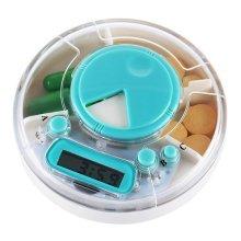 Round Pill Storage Box With Timing Alarm