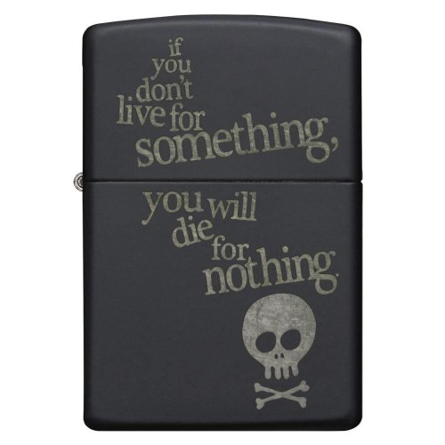 Live For Something Black Matte Zippo Lighter