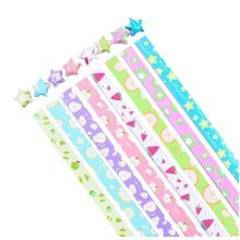 370 Sheets Lucky Star Folding Paper Multicolored Fruits Pattern