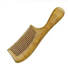 Fine Tooth  PALO SANTO Handle Comb Anti-static Wooden Comb
