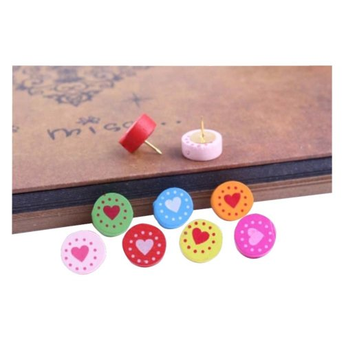 30Pcs Round Shape Pushpins Creative Cute Drawing Pin Colorful Pushpins
