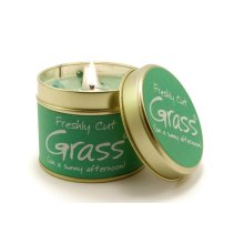Lily Flame Candle in a Tin - Freshly Cut Grass