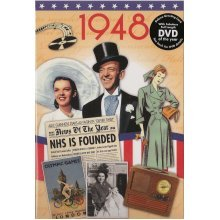 70th Platinum Wedding Anniversary gift ~ Reminisce 1948 with DVD and Greeting Card