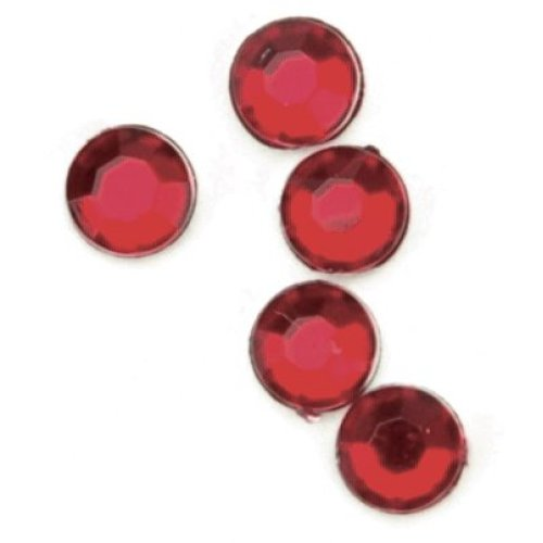 Rhinestones Round 7mm 32/Pkg-Ruby