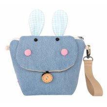 Creative Cute Canvas Coin Purse Storage Cosmetics Bag Blue