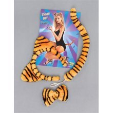 Ladies Tiger Headband, Tail & Bow Tie Set