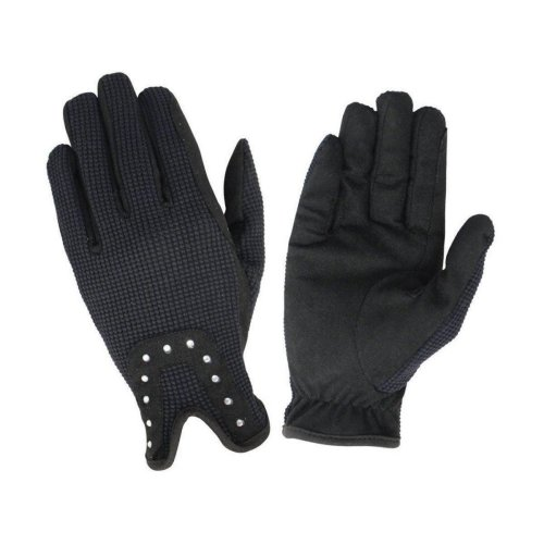 Hy5 Childrens/Kids Diamante Riding Gloves