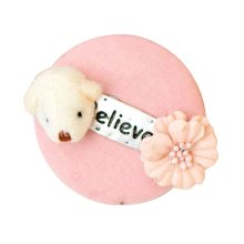 Pink Bear Design Stick Pin Brooch Badge for Hat Scarf