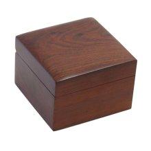Retro Wooden Jewelry Storage Box Safe Stationery Box-10*10*6.5 CM