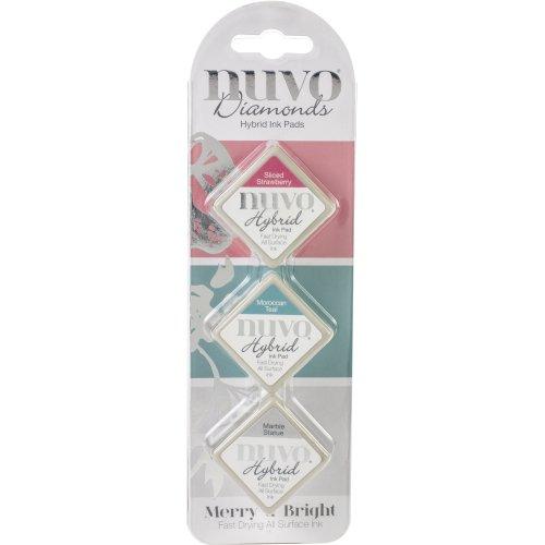 Nuvo Diamond Hybrid Ink Pads 3/Pkg-Merry & Bright