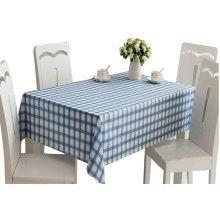 Elegant Square Tablecloth,Water/Oil Resistant Tablecloths,BLUE,138*138cm