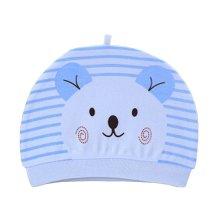 Set of 3 Cute Baby Hats Infant Caps Newborn Baby Cotton Hat Bear Blue