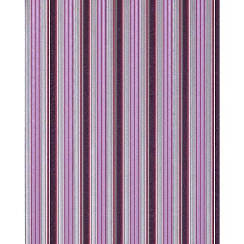 EDEM 825-29 stripe wallpaper violet lilac syringa silver-grey white | 75 sq feet