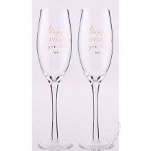 Happy Anniversary Champagne Flutes from Amore by Juliana wg665ha