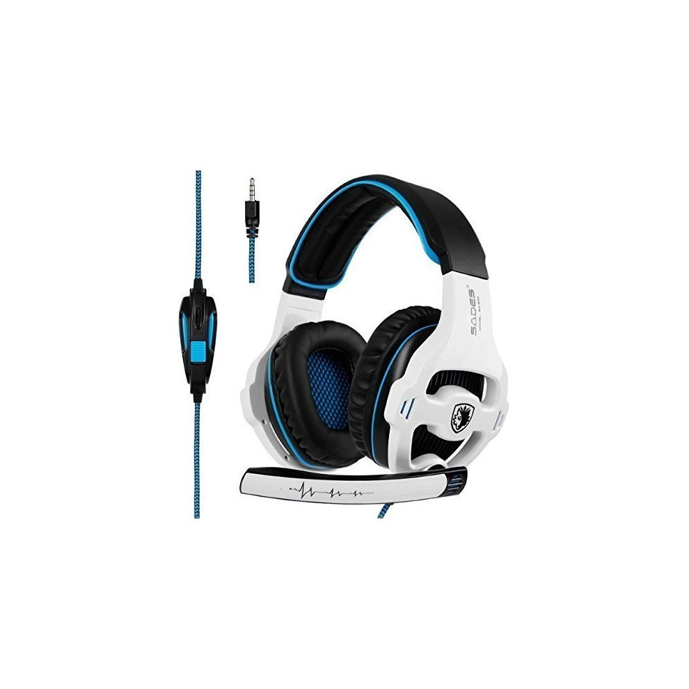 [2018 Latest Edition Xbox one Gaming Headset] SADES SA810 Over Ear Stereo  Gaming Headset with Mic Bass Volume Control for Xbox One/PS4/PC/Laptop