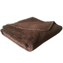 Coral Fleece Cat Blanket Brown - 100 x 74cm