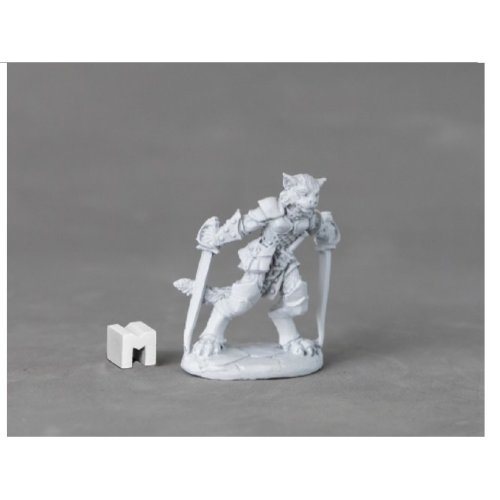 Reaper Miniatures Dark Heaven Legends 03894 Shadoweyes Catfolk Rogue