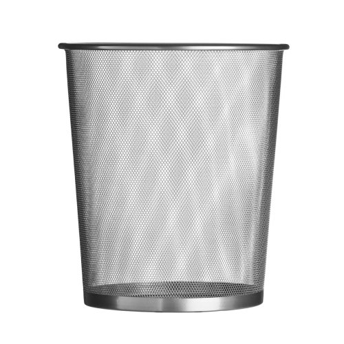 Large Wire Mesh Waste Paper Bin For Home Office, Silver