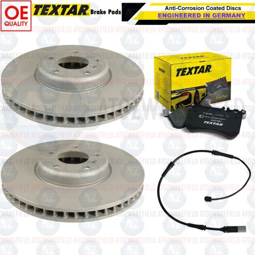 FOR BMW M140i M SPORT FRONT OE QUALITY COATED BRAKE DISCS TEXTAR PADS WIRE 340mm