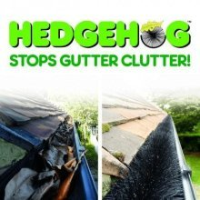 Hedgehog Gutter Guard 4m x 100mm / Clean Clear Blocked Leaves Twigs Leaf Debris