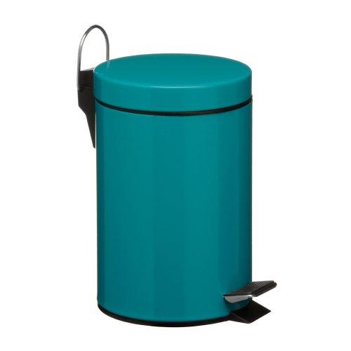 Premier Housewares 3 L Pedal Bin, 26 x 17 x 23 cm - Turquoise
