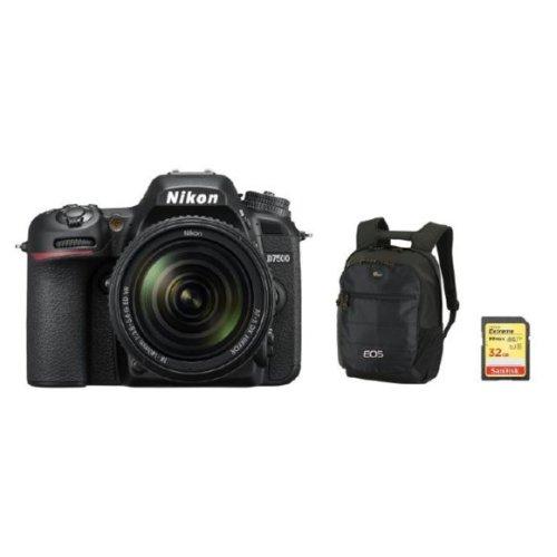 NIKON D7500 KIT AF-S 18-140MM F3.5-5.6G ED VR DX + Backpack +32G