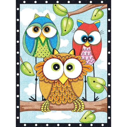 Dpw91473 - Paintsworks Pencil by Numbers - Owl Trio