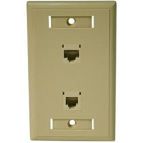 Cables To Go 27419 CAT 5E RJ45 WITH CAT3 RJ12 CONFIGURED WALL PLATE - IVORY