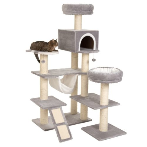 XXL Cat Tree with Ladder Gingerbread House Den Hideaway