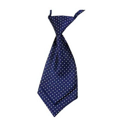 Unique Baby Tie Adjustable Neck Tie Party Wedding Show Tie Girl Boy Tie Blue Dot