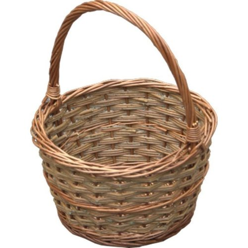 Small Rustic Apple Shopping Basket