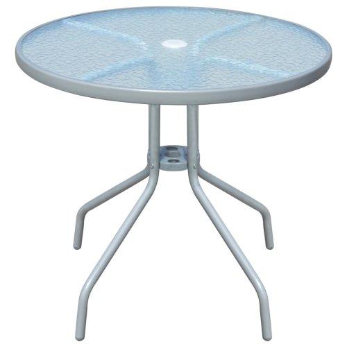 vidaXL Outdoor Table 80x71 cm Steel Round Grey