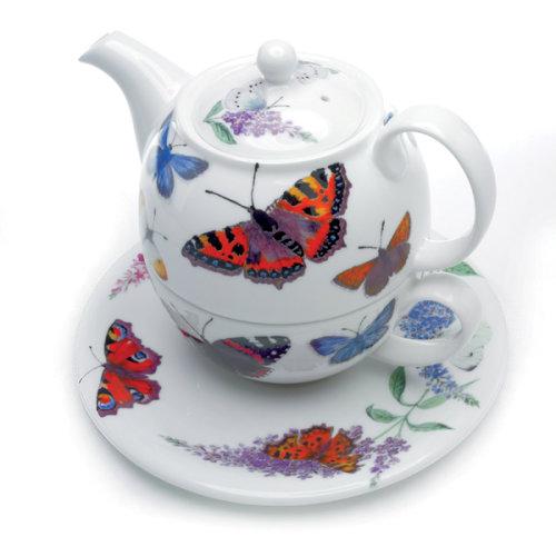 Roy Kirkham Tea for One Set Butterfly Garden