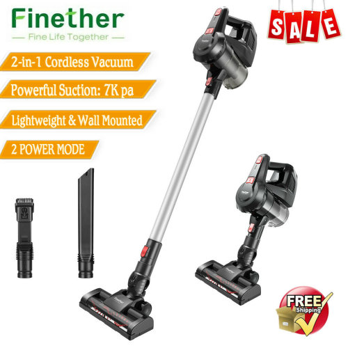 2in1 Cordless Handheld Stick Vacuum Cleaner 7000PA Suction Dust Hoover