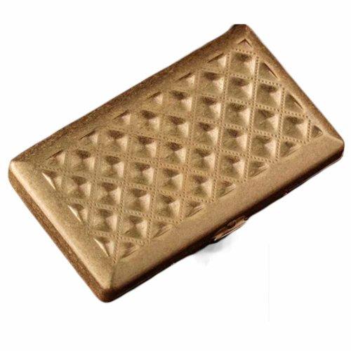 Brass Cigarette Case Copper Cigarette Case/Box/Holder – Double Sided Flip Open Pocket Storage Case