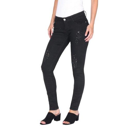 Diamante & Rip Detail Skinny Jeans