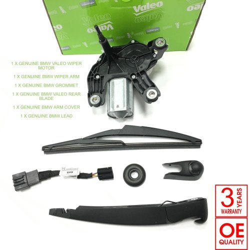 For MINI ONE COOPER 2001-07/2004 REAR WIPER MOTOR ARM BLADE LEAD COVER VALEO OEM