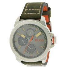 Hugo Boss Leather Chronograph Mens Watch 1513318
