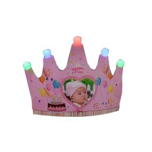 Private Tailored High-end Crown Light Cap Birthday Hat, Female Baby Style