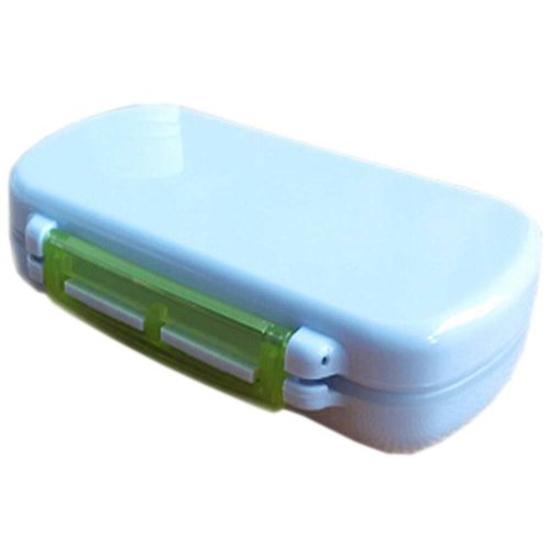 Portable 6 Compartment Portable Pill Box, Green