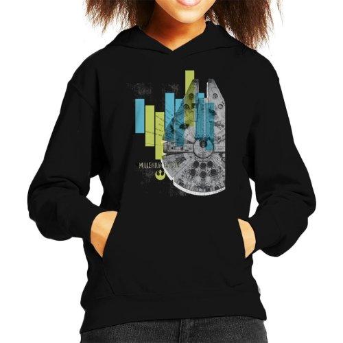 Star Wars Millenniumm Falcon Corellian Light Freighter Kid's Hooded Sweatshirt